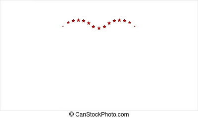 Star heart Valentine Day video animation - Star heart motion...