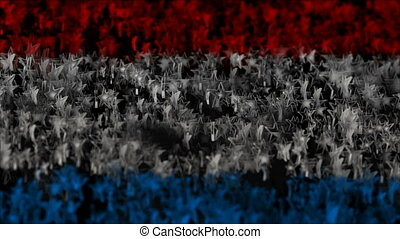 star hero. tricolor of soaring stars. abstract background. seamless loop.