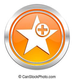 star icon, add favourite sign