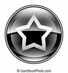 star icon black, isolated on white background.