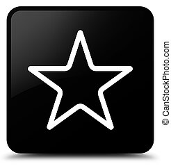 Star icon black square button