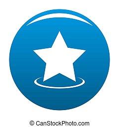 Star icon blue