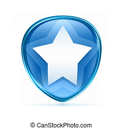 star icon blue, isolated on white background.