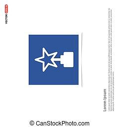 Star Icon - Blue photo Frame