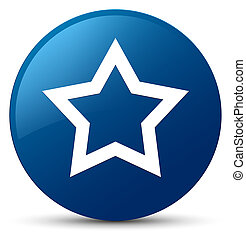 Star icon blue round button