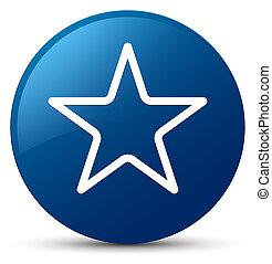 Star icon blue round button