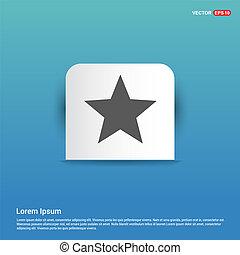 Star Icon - Blue Sticker button