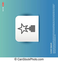 Star Icon - Blue Sticker button