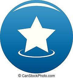 Star icon blue vector