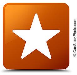 Star icon brown square button