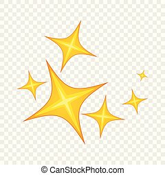 Star icon, cartoon style