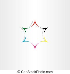 star icon colorful background abstract vector element