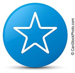 Star icon cyan blue round button