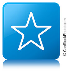 Star icon cyan blue square button