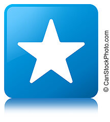 Star icon cyan blue square button