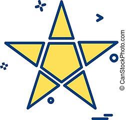 Star icon design vector