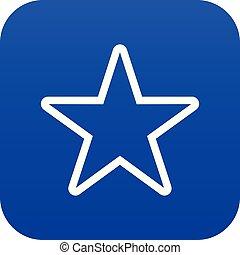 Star icon digital blue
