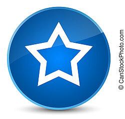 Star icon elegant blue round button