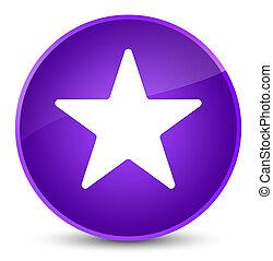 Star icon elegant purple round button