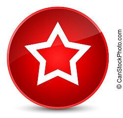 Star icon elegant red round button