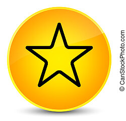 Star icon elegant yellow round button