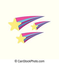 Star icon. Fantasy World of the Unicorn. Cartoon style. Vector Illustration