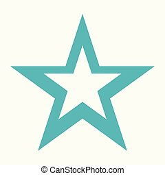 star icon. Flat isolated illustration for your web design.