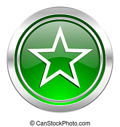 star icon, green button