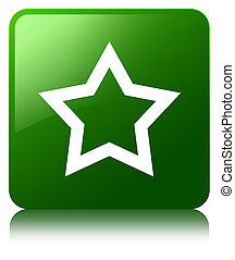 Star icon green square button
