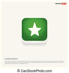 Star Icon Green Web Button