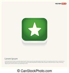 Star Icon Green Web Button