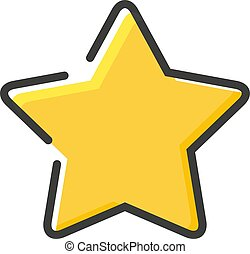 Star icon in a flat design. Vector illustration