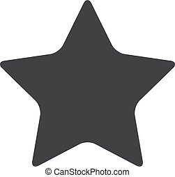 Star icon in black on a white background. Vector illustration
