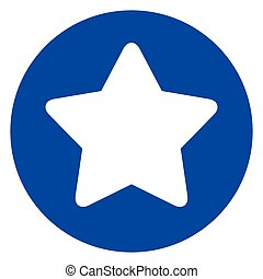 star icon in blue circle