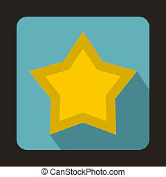 Star icon in flat style