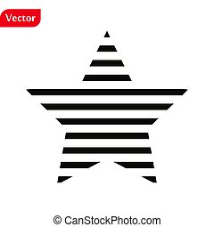 Star Icon in trendy flat style isolated on white background. Rating symbol for your web site design, logo, app, UI. Vector illustration, EPS10.