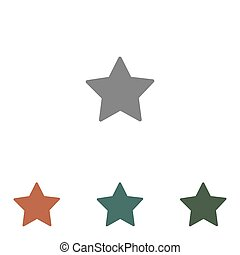 star icon isolated on white background