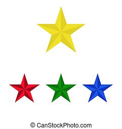 Star icon isolated on white background. Vector illustration