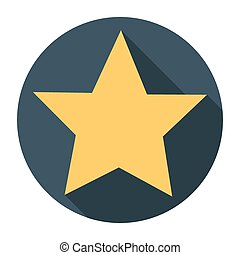 star icon long shadow flat design vector illustration