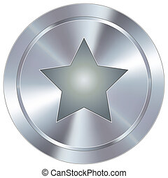 Star icon on industrial button