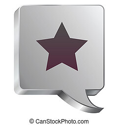 Star icon on steel bubble