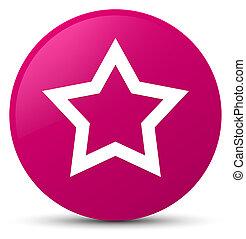 Star icon pink round button