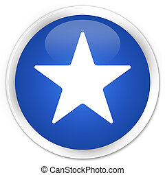 Star icon premium blue round button