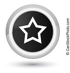 Star icon prime black round button