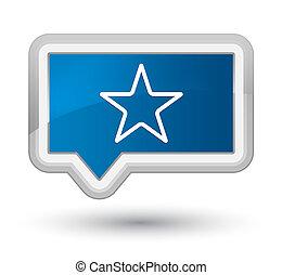 Star icon prime blue banner button