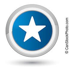 Star icon prime blue round button