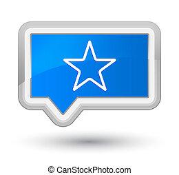 Star icon prime cyan blue banner button
