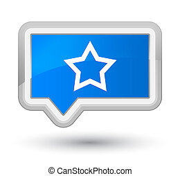 Star icon prime cyan blue banner button