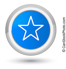 Star icon prime cyan blue round button