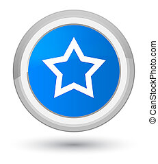 Star icon prime cyan blue round button